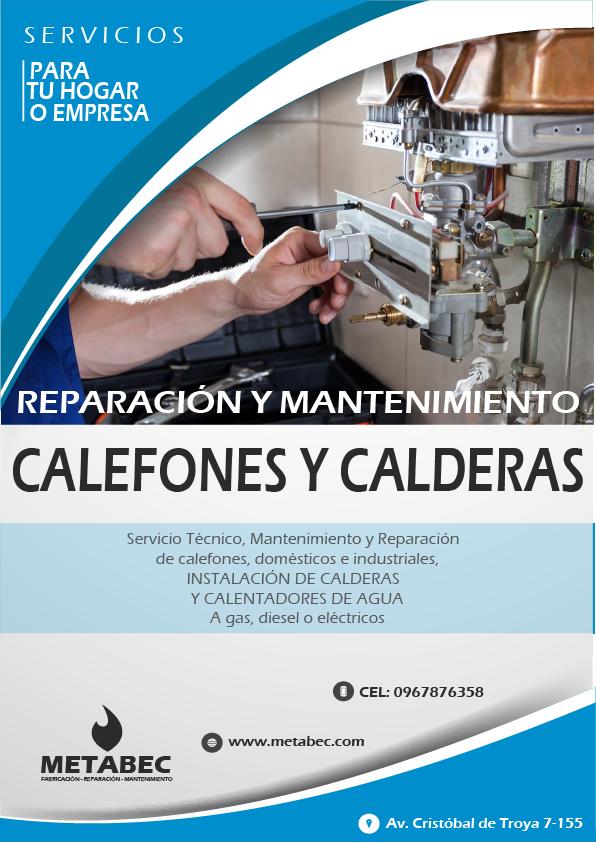 Instalación y mantenimiento de calderas y calefones Ibarra Imbabura Ecuador y el norte del país
